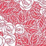 Tissue Transfer Mini Rose Leaf - Red