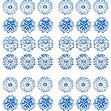 Tissue Transfer Round Flower - Blue