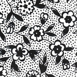 Tissue Transfer Blossoms and Dots - Black