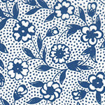 Tissue Transfer Blossoms and Dots - Blue