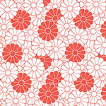 Tissue Transfer Flower - Red & White