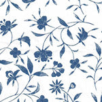 Tissue Transfer Florentine Flower - Blue