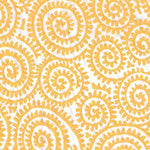 Tissue Transfer Paisley Twirl - Yellow