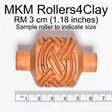 MKM Hand Roller 3cm Diagonal Triangles