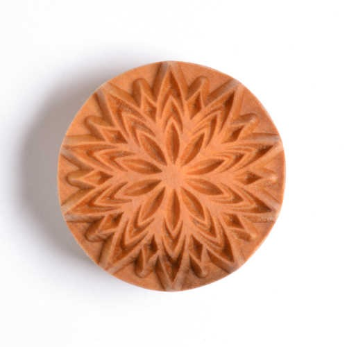 MKM Large Round Stamp 4cm Fancy Lotus