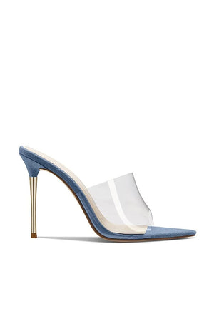 Gigi PVC & Steel Mule - Denim
