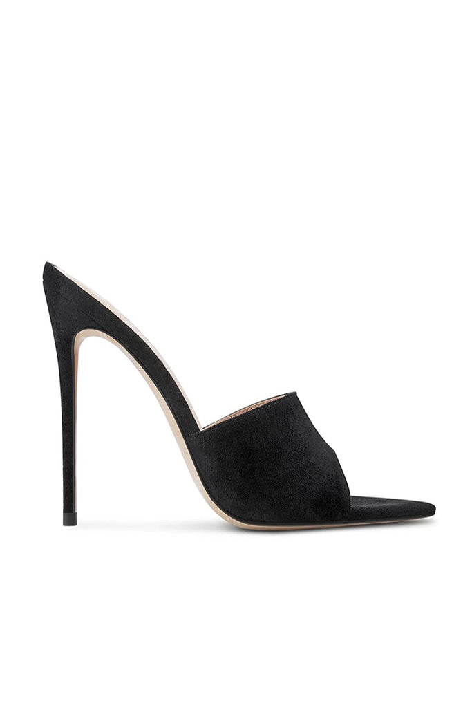 Gianni Suede Mule - Black