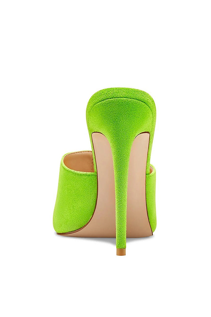 Gianni Suede Mule - Lime