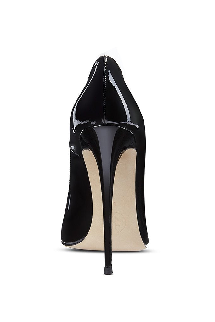 Gia Pumps - Patent Black