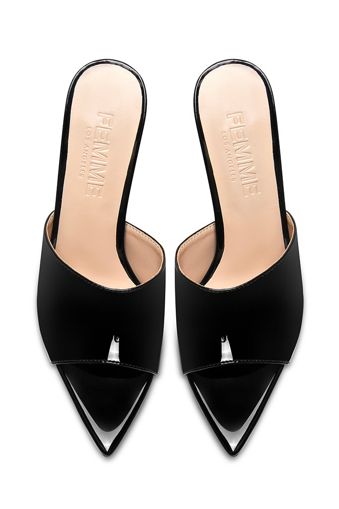 Gianni Patent Mule - Black