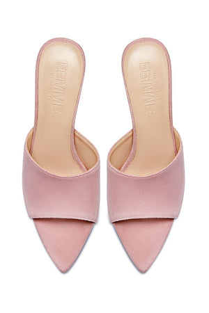 Gianni Suede Mule - Baby Pink