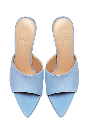 Gianni Suede Mule - Powder Blue