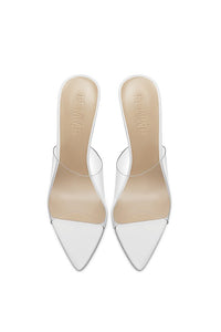 Gigi PVC & Steel Mule - High Gloss White & Pvc