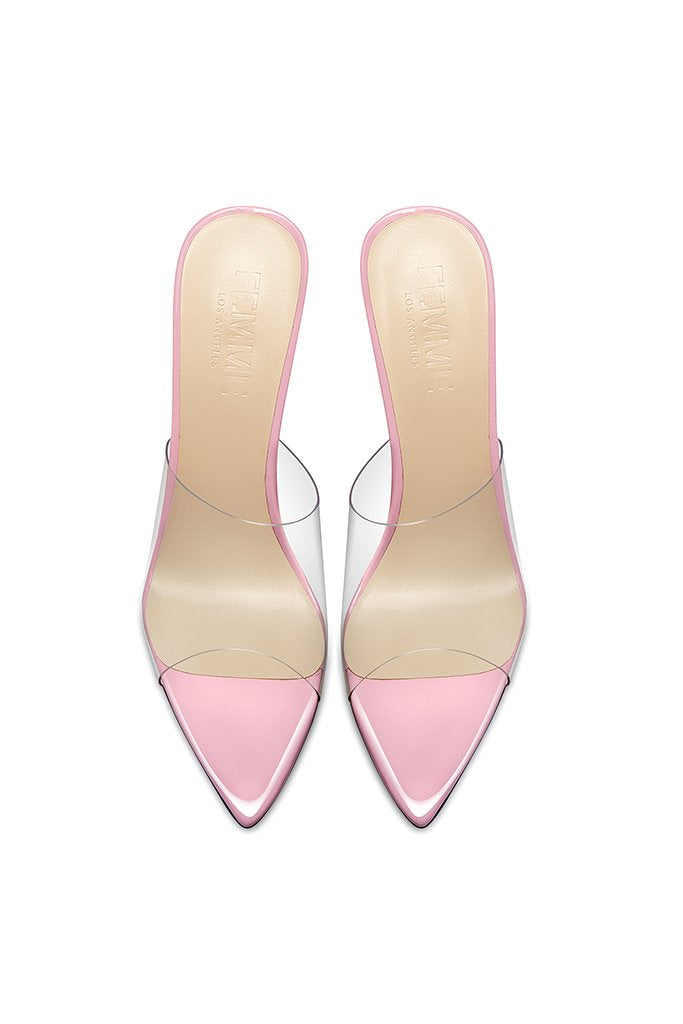 Gigi PVC & Steel Mule - Rose