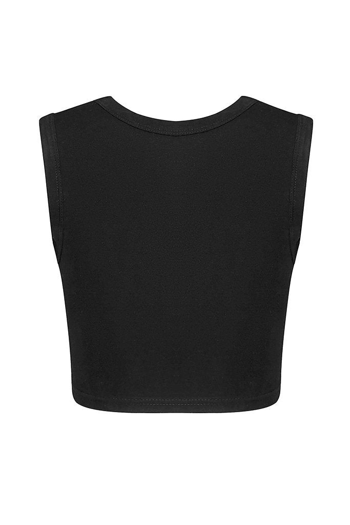 Elixa Sleeveless Tee - Black