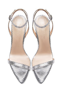 The Ford Sandal - Silver Snakeskin