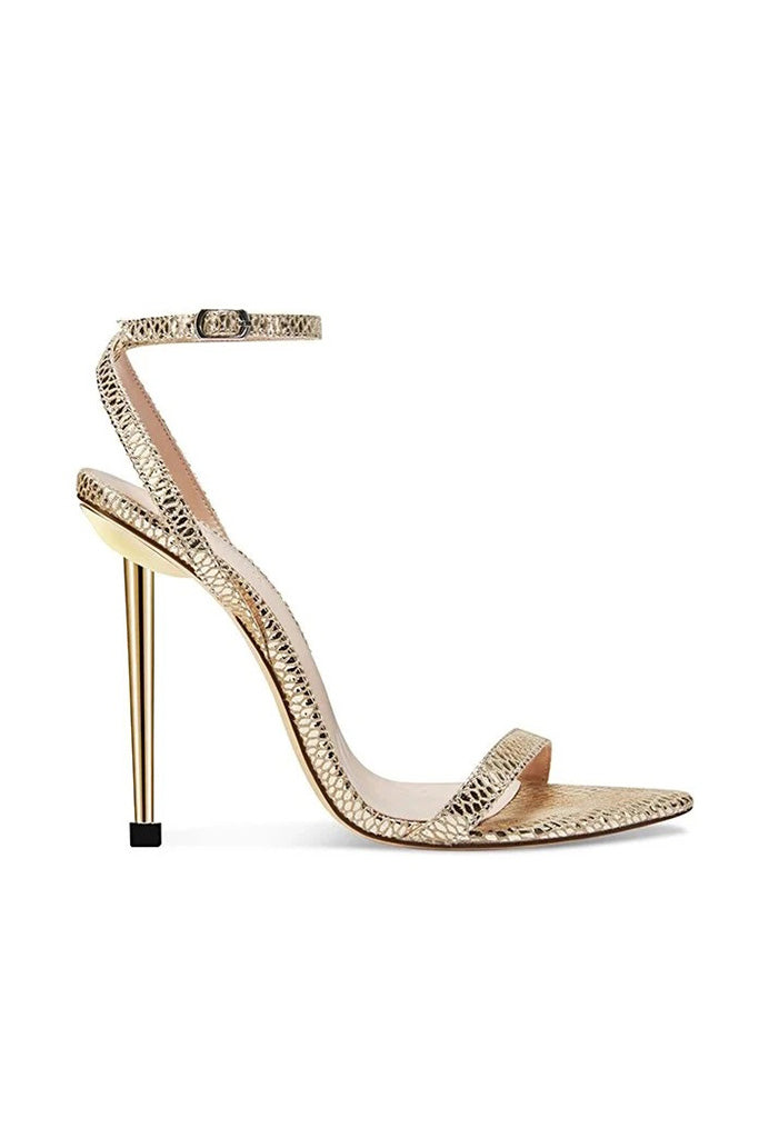 The Ford Sandal - Gold Snakeskin