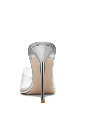Gigi PVC & Steel Mule - Metallic Leather