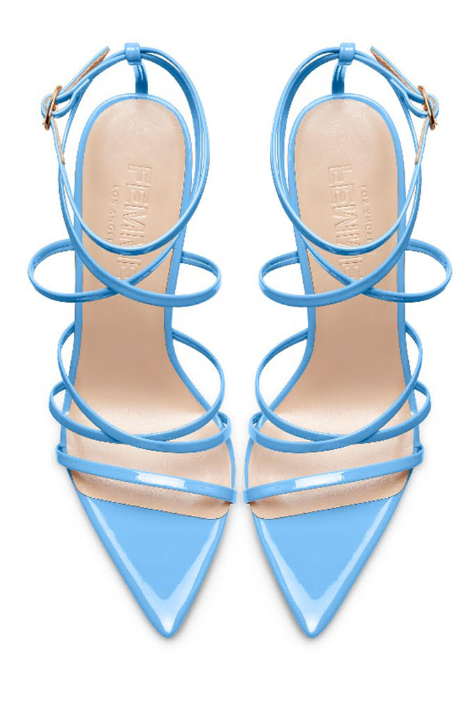 Stark Patent Heel - Powder Blue
