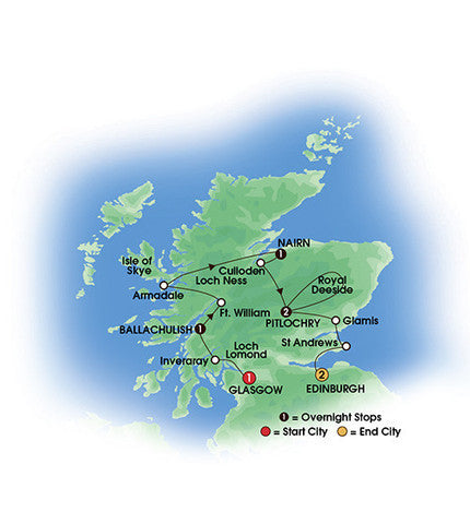 Scottish Isles & Glens - 12 Days