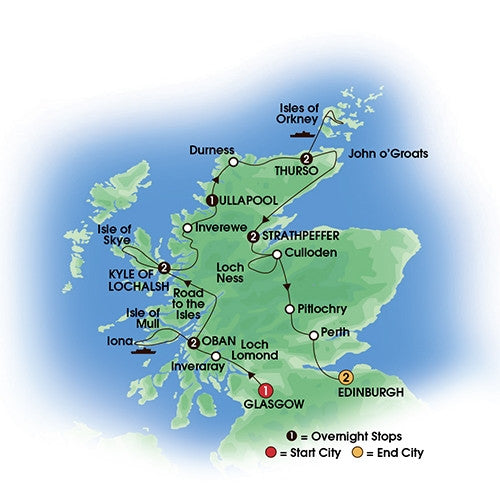 Scottish Isles & Glens - 13 Days