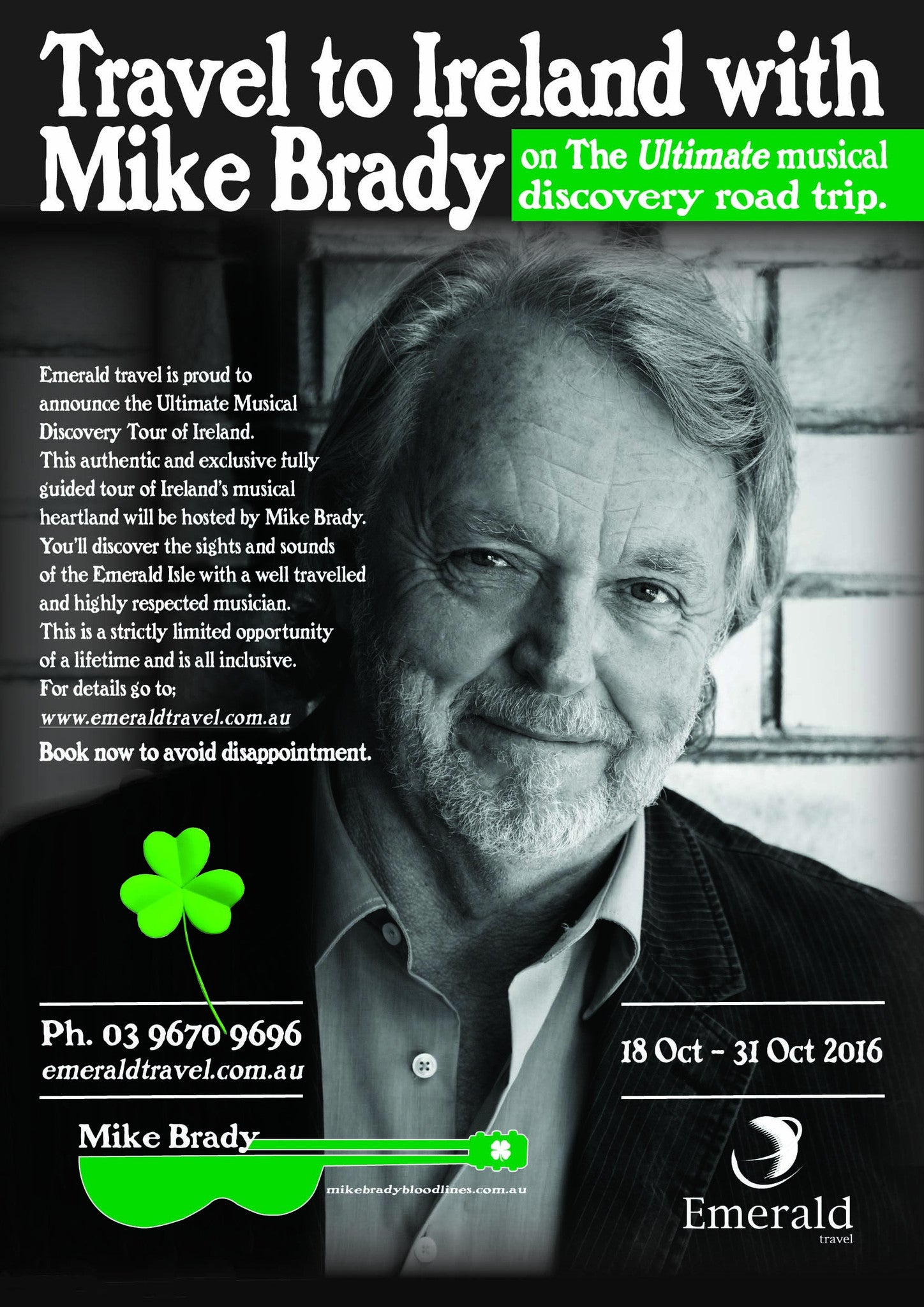 Travel to Ireland with Mike Brady - A Musical Road Trip