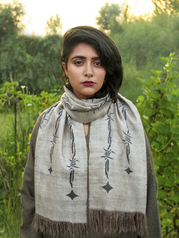 'KANI' BARBED-WIRE SCARF