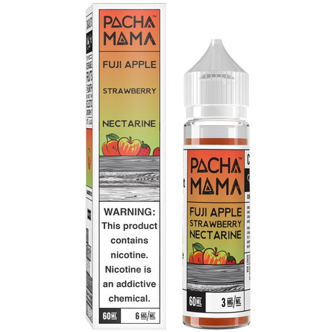 Pacha Mama E-liquid - Fuji Apple, Strawberry & Nectarine 60 ml - Pure Vapor E-cigarettes NZ