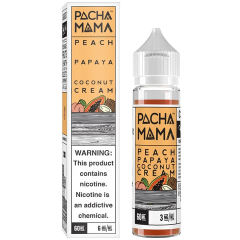 Pacha Mama Peach, Papaya & Coconut Cream 60 ml - Pure Vapor E-cigarettes NZ