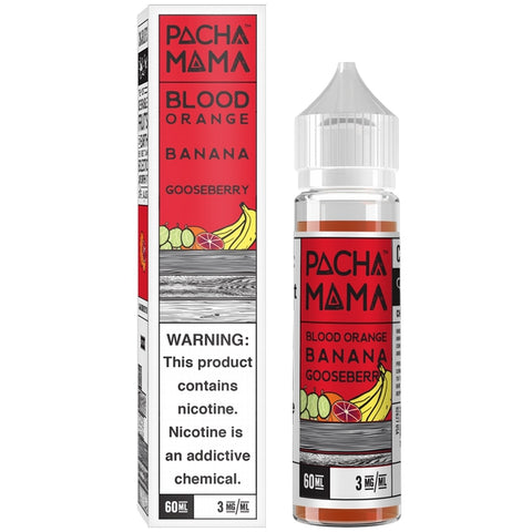 Pacha Mama E-liquid - Blood Orange, Banana & Gooseberry 60 ml - Pure Vapor E-cigarettes NZ