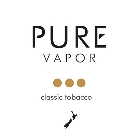 Classic Tobacco II 30 - 60 ml Eliquid - Pure Vapor E-cigarettes NZ
