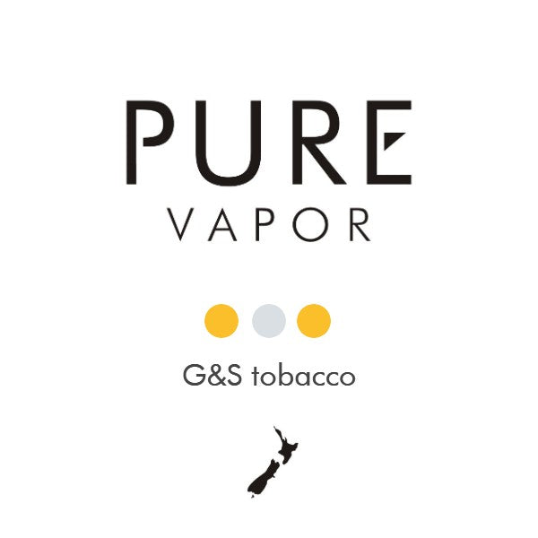 G&S Tobacco 30 - 60 ml E-liquid - Pure Vapor E-cigarettes NZ