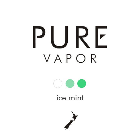 Ice mint 30 - 60 ml e-liquid - Pure Vapor E-cigarettes NZ