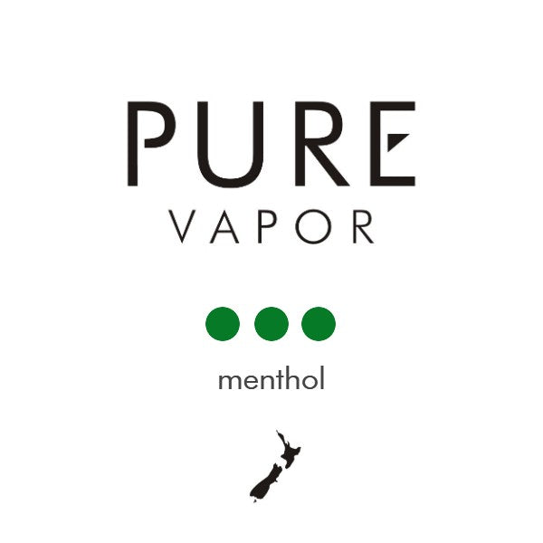 Menthol 30 - 60 ml e-liquid - Pure Vapor E-cigarettes NZ