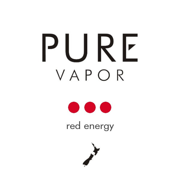 Red energy 30 - 60 ml e-liquid - Pure Vapor