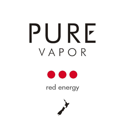 Red energy 30 - 60 ml e-liquid - Pure Vapor E-cigarettes NZ