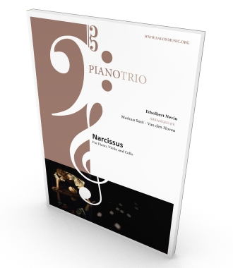 Piano Trio, Narcissus, parts and score in PDF for piano, violin and cello