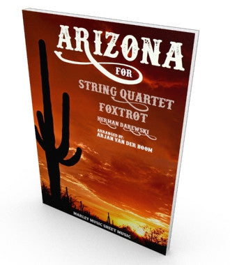 Arizona, Foxtrot Salon Music, sheet music for string quartet. Parts and score in PDF