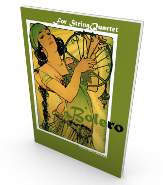 Bolero, sheetmusic for string quartet