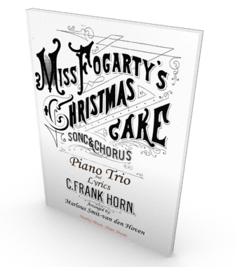 Miss Fogarty's Christmas Cake, sheet music, piano trio, parts and score in PDF. Salon music.
