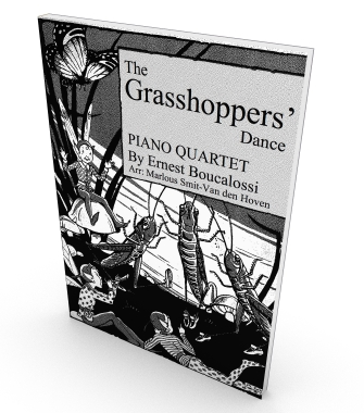 Grasshoppers' Dance, Sheet music for Piano Quartet, Score and Parts in PDF.