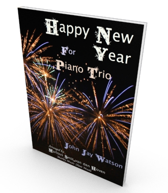 Happy New Year! Sheet music for piano quartet, Salon Music. Parts and score in PDF.