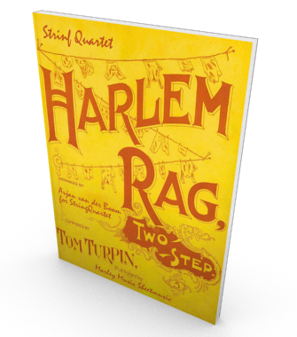 The Harlem Rag, sheet music for string quartet