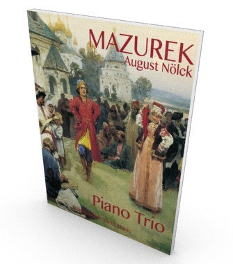 Salon music, Mazurka for piano trio, score and parts in PDF
