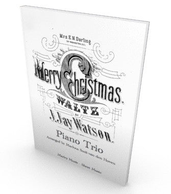 Merry Christmas Waltz, sheet music for piano quartet, salon music