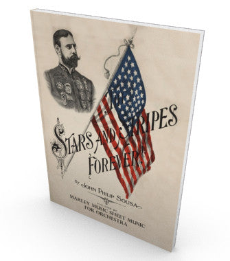 Stars & Stripes Forever!, sheet music for orchestra, parts and score.