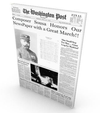 Washington Post March, sheet music for orchestra, score and parts