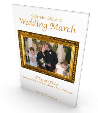 Wedding March, Piano Trio, score and parts in PDF, Mendelssohn