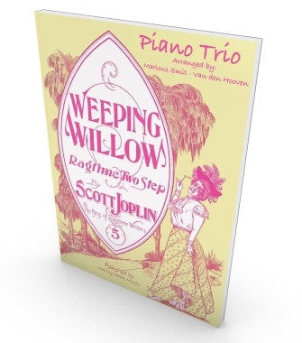 Weeping Willow, Scott Joplin, sheet music for piano trio