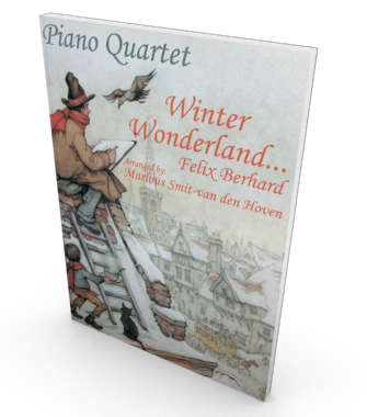 Winter Wonderland, sheet music for piano quartet, parts and score in PDF